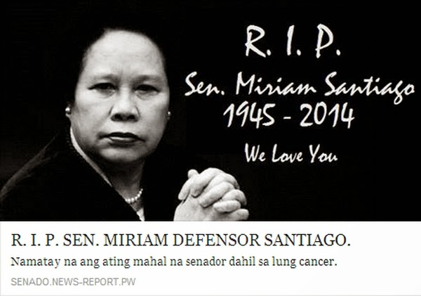Miriam Defensor Santiago death hoax