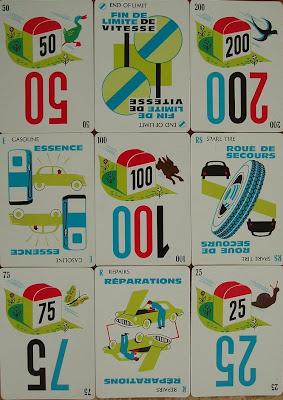 Vintage Mille Bornes Cards