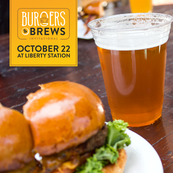 Promo code SDVILLE saves $5 per ticket to the Burgers & Brews Invitational - October 22