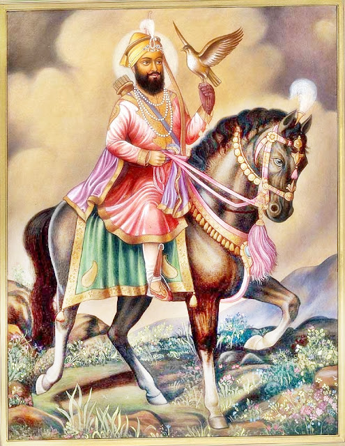 Gobind Singh ji on Horse Images and Photos - Neela Ghora