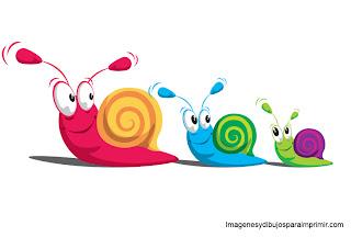 Una divertida familia de caracoles