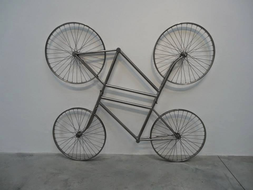 Ai Weiwei Exhibition at Lisson Gallery, London - 2 bikes