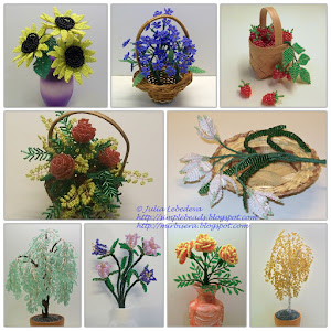 Tutorials on making beaded flowers and trees