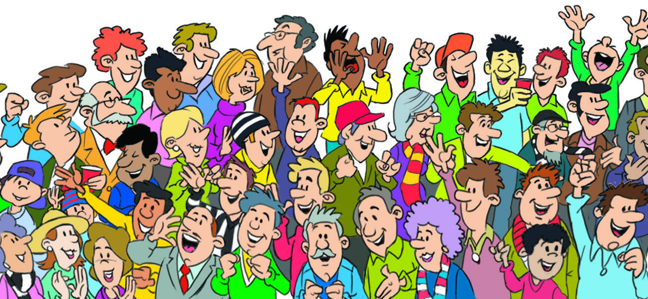 Cartoon Crowd Cheering Pictures to Pin on Pinterest ...