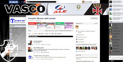 facebook skin layout - Tema para Facebook do Vasco
