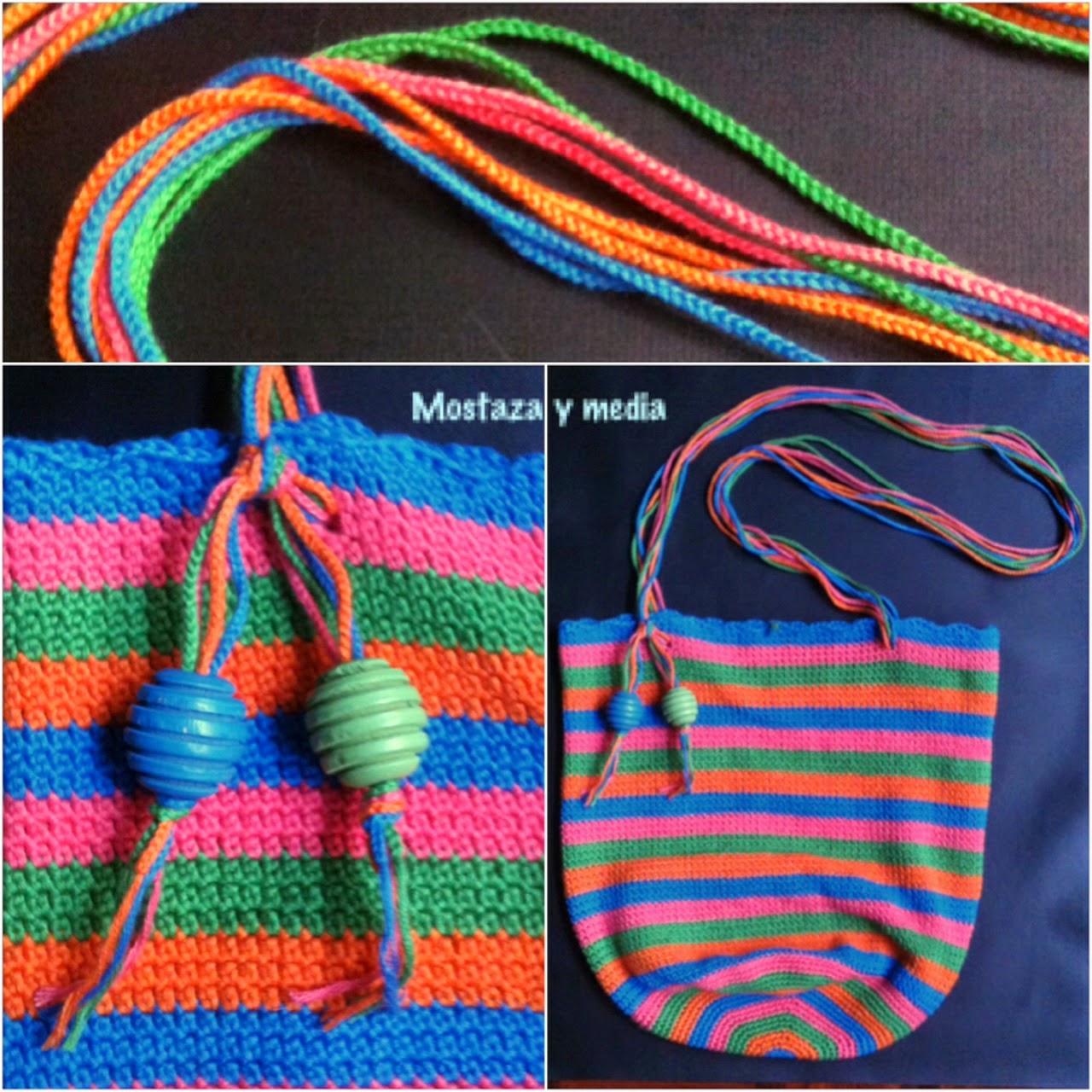 Tutorial de crochet Bolso de verano a rayas