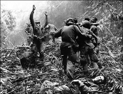 shot dead and that is what liberated the vietnamese in the end the
