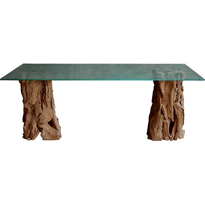 Tree trunk table for sale on ebay not as graceful as the tables from