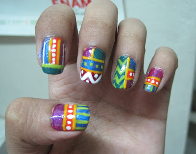 Tribal, Circus Inspired Nails