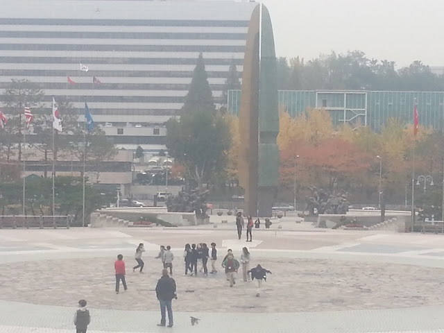 Entrance of the War Memorial of Korea in Seoul