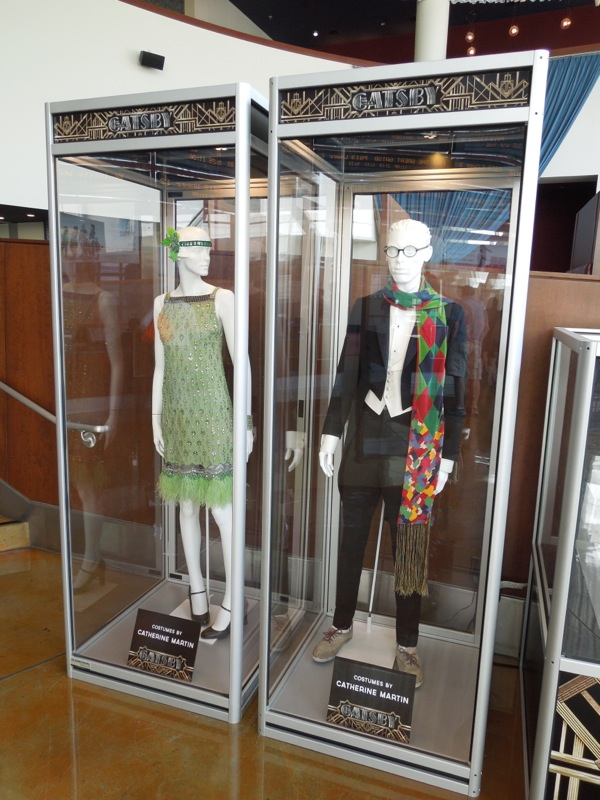 Great Gatsby movie costume exhibit