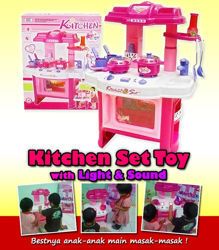 Kitchen set toy with lights and sound comel lote collections for Tukang kitchen set