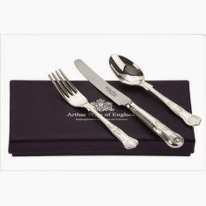 Arthur Price Giftware 3 Piece Stainless Steel spoon, knife