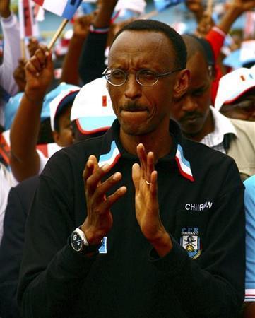 Paul Kagame, presidente de Rwanda desde marzo 24, 2000.