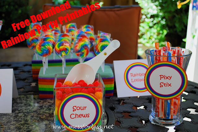 free download of rainbow party printables