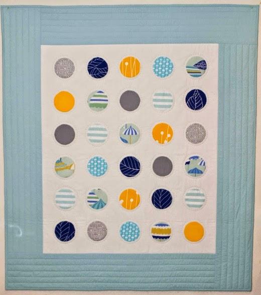 Custom organic crib quilt by Organic Quilt Company