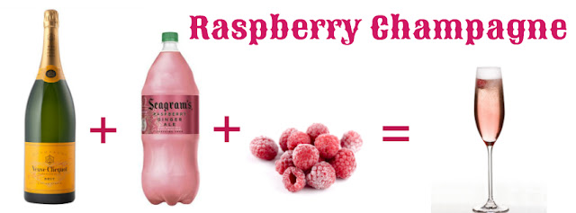 raspberry champagne drink recipe new year maryland blogger