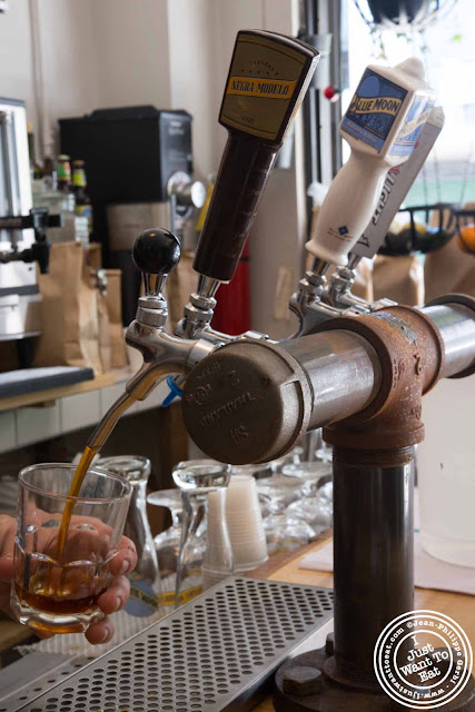Image of iced coffee on tap at Little Fox Cafe in Chinatown, NYC, New York
