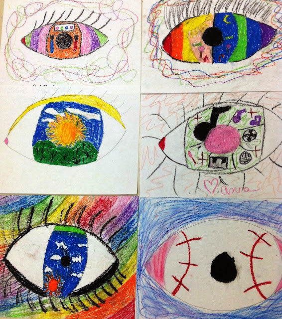 Fourth Grade Art Inspired by Rene Magritte
