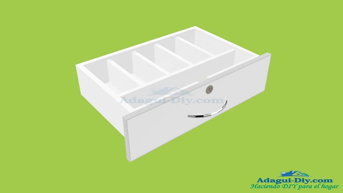 Dise o cajones muebles de cocina con diviciones interiores for Software de diseno de muebles de melamina