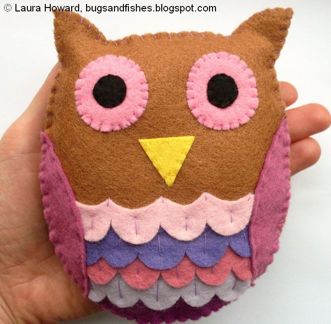 owl tutorial bugs and fishes by lupin how to felt owl