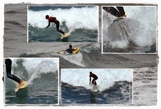 Surfer, Wasser und Wellen von Nova
