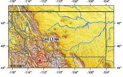 WESTERN MONTANA USA earthquake 2012 November 15