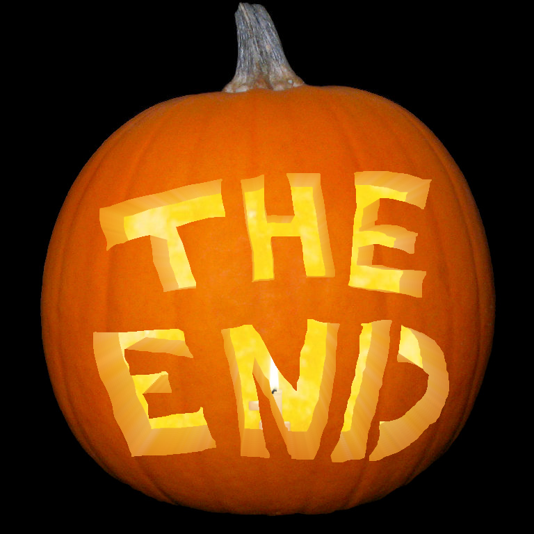 The End Pumpking carving Halloween