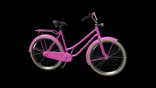 dutch bicycle in pink