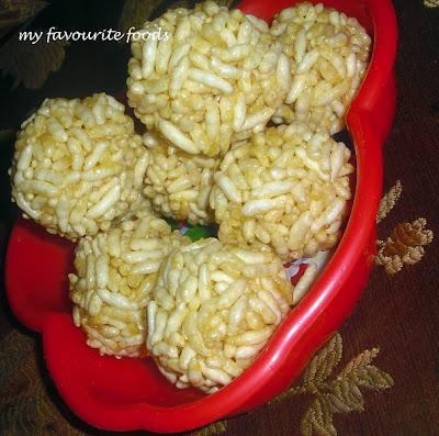 Rice Puffs Ladoo