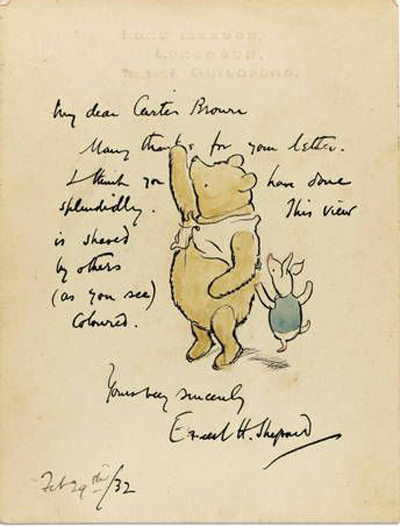 BOOKTRYST Scarce Original EH Shepard Winnie The Pooh