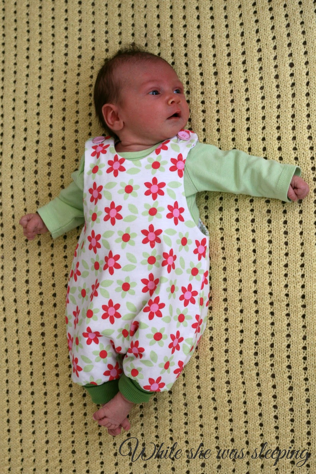 jumpy romper for my baby while she was sleeping