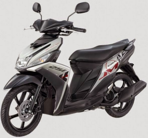 Yamaha Mio M3 125 Blue Core Warna Chat White