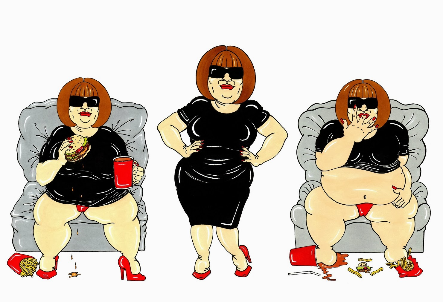 "Humor Chic: ""FASHION ICON OVERSIZE"" by aleXsandro Palombo"