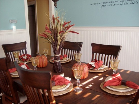 Western home decorating 26 thanksgiving table decorations for Table centerpiece ideas for home