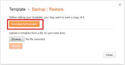 Cara beckup template pada blogger
