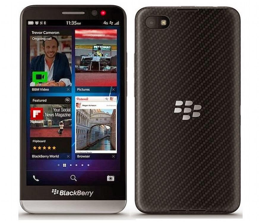 Spesifikasi Hp Blackberry Z3 - Black