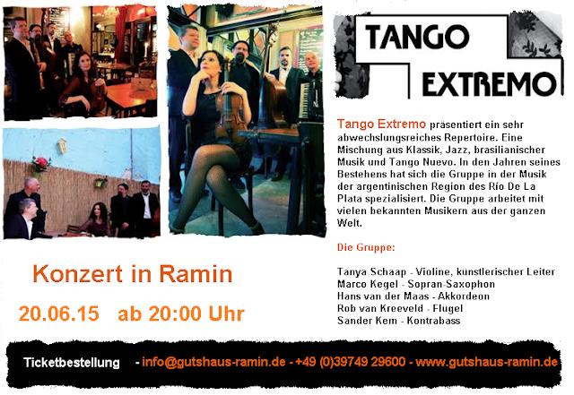 """Live-Konzert der hollandischen Band """"Tango Extremo"""" Flyer"""