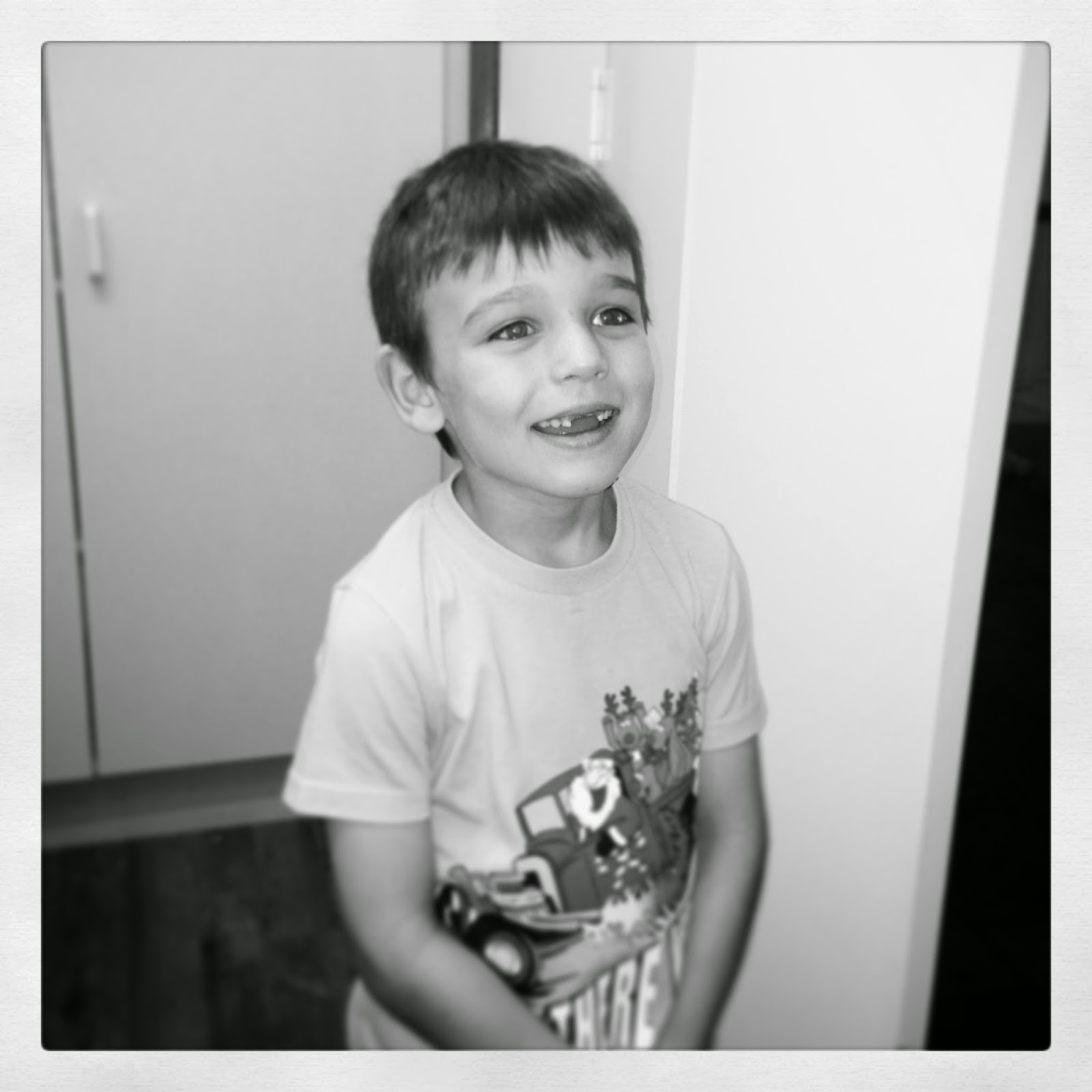 Jonty discovering The Elf on the Shelf