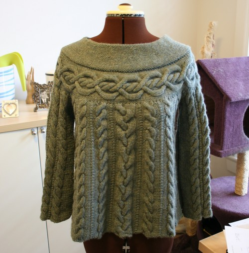 Cable Luxe Tunic - Free Pattern