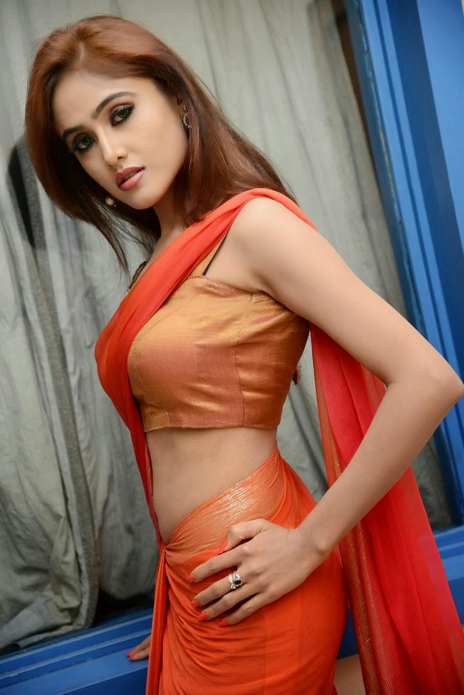 Sony Charishta Mind Blowing Photos of in Half Saree