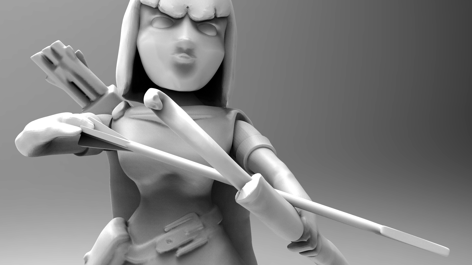 Archer Statue – Clash of Clans HD Wallpaper