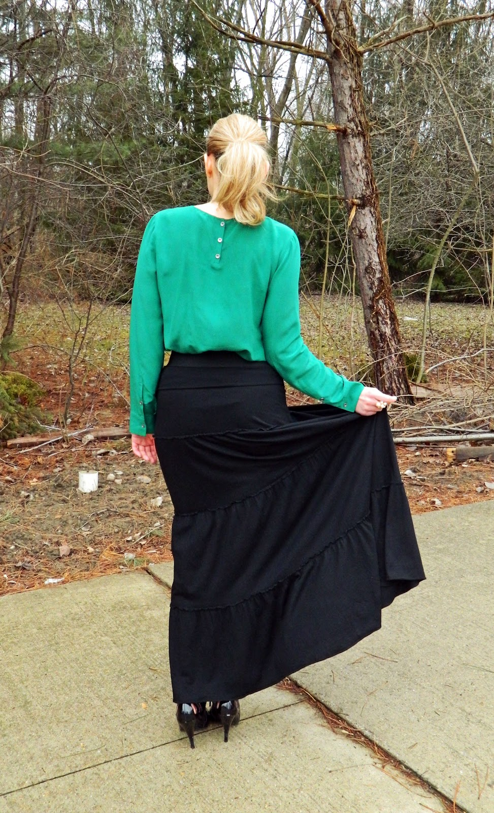 express black maxi skirt