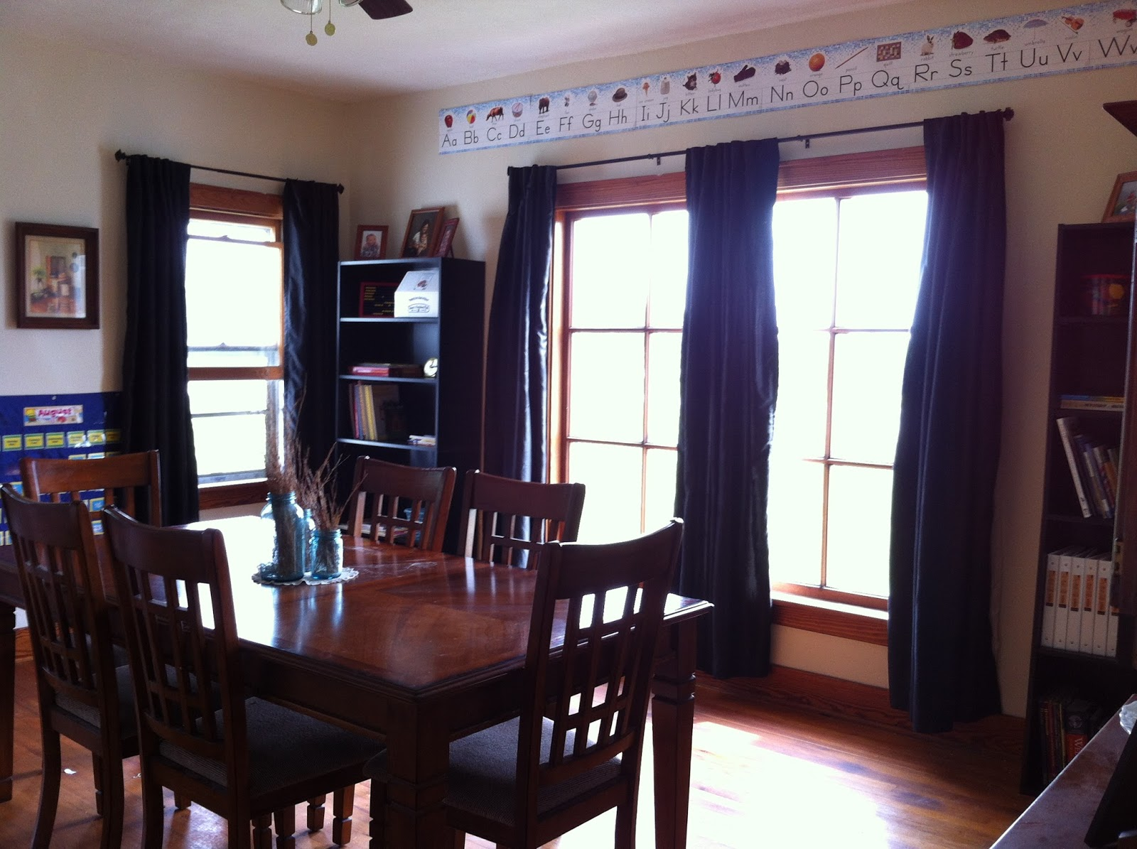 Made from scratch living total transformation our dining for Homeschool dining room ideas