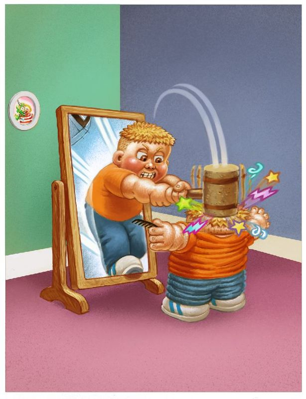 Garbage Kids Funny Illustrations By Luis Diaz