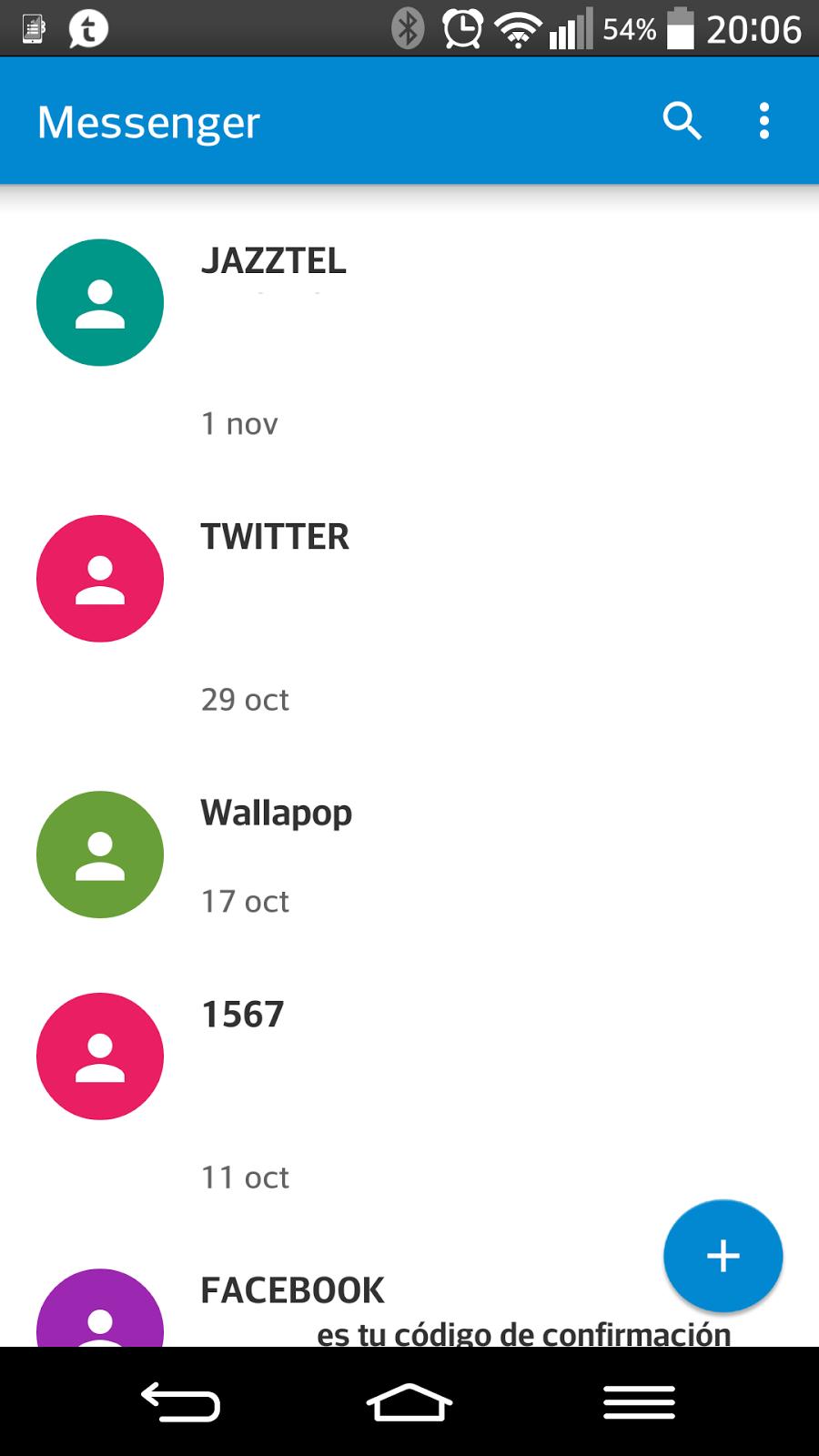 Aplicación para gestionar tus SMS o MMS en tu Android.