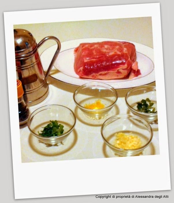 ingredienti secondo piatto di lonza aromatizzato al limone