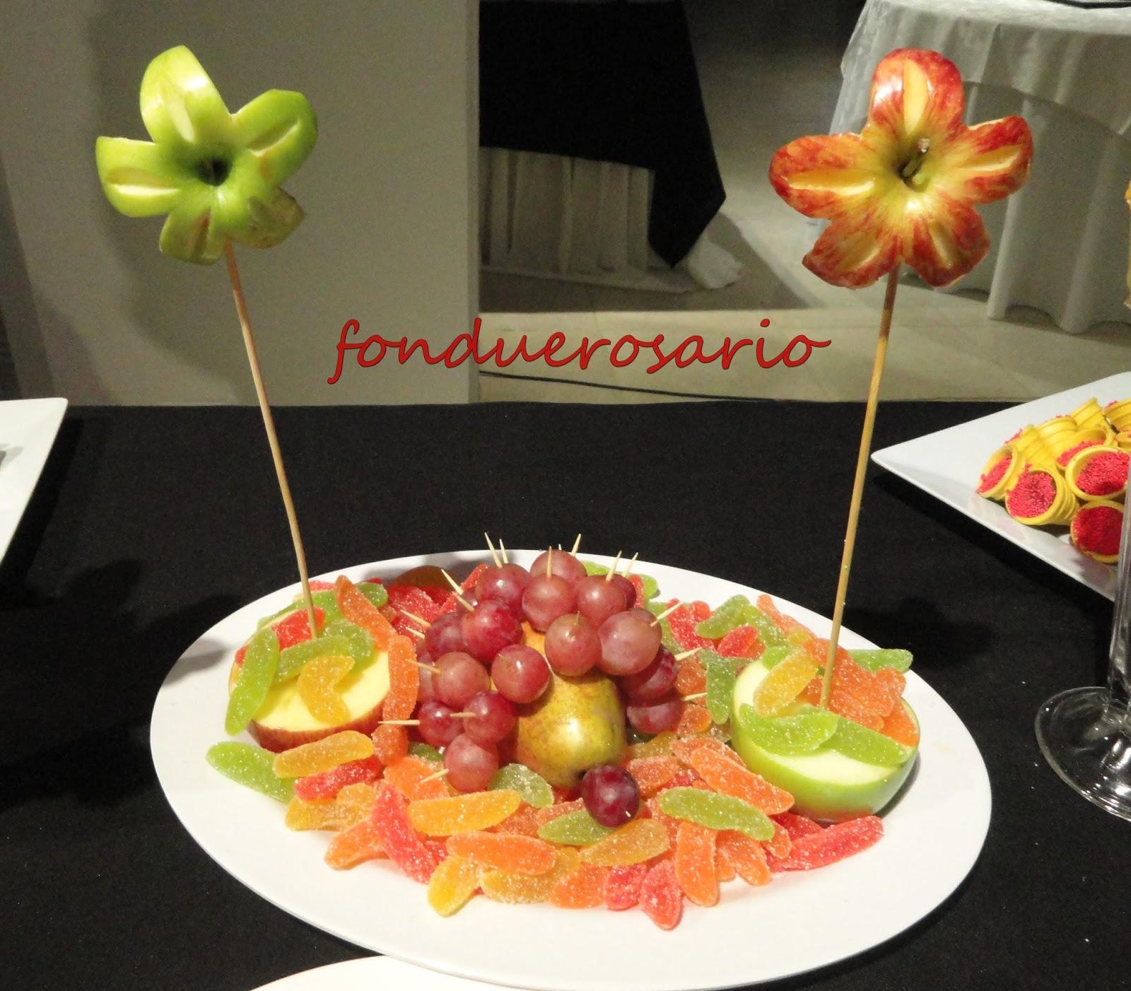 Fondue rosario cascada de chocolate para fiestas y eventos for Secar frutas para decoracion