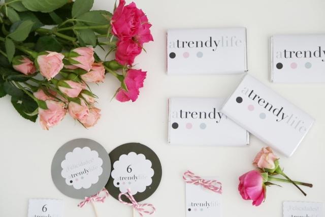 Cumpleaños A trendy life -  Kit personalizado en tonos rosas