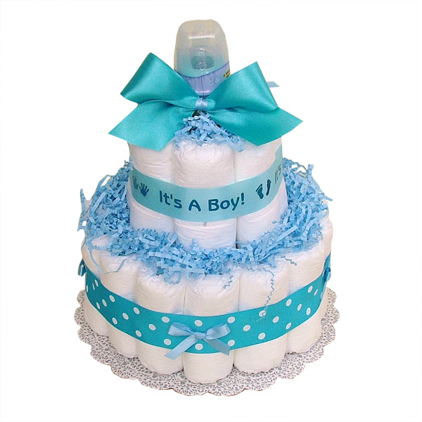 Boy Diaper Cake Decorations : Living Room Decorating Ideas: Baby Shower Diaper Cakes For ...